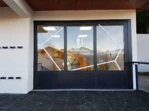 Adhésif vitrine point de vente Les Arcs en Savoie (73)