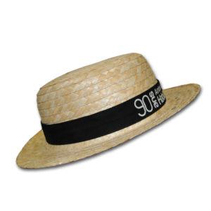 Chapeau de paille avec ruban personnalisable