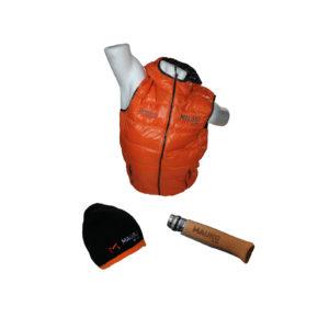 Doudounes et bonnets brodés, opinels gravés, Mauro béton est prêt pour l'hiver !