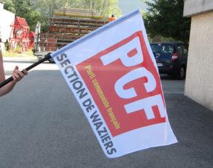 Drapeau à main Parti Communiste