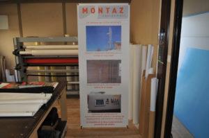 Kakemono X-banner Montaz Equipement