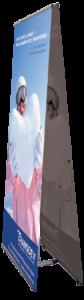 Kakémono d'intérieur 800 x 1800mm porte affiche / totem en aluminium et plastique