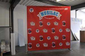 Banderole et porte banderole Musilac