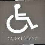 Plaque en 3D avec texte en braille par incrustation de billes