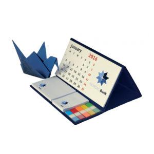 Agenda de bureau personnalisé avec bloc-note et marque page