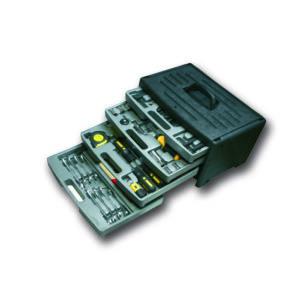 Boîte à outils personnalisable contenant 116 outils. De nombreux sont disponibles avec plus ou moins d'outils rangés dans une sacoche personnalisable