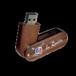 Clé USB à clapet personnalisée en bois